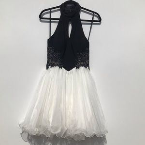 Windsor Black & Ivory Formal Dress/Cocktail Dress